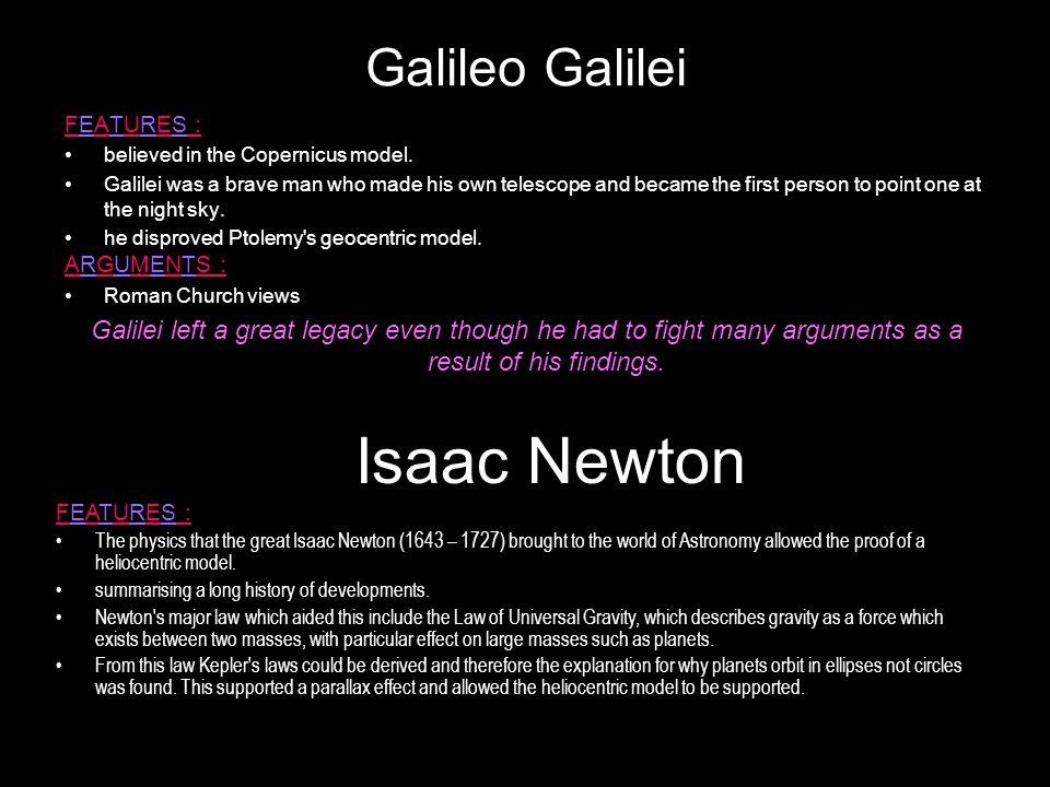 Isaac Newton Galileo Galilei