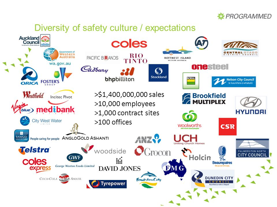 Diversity of safety culture / expectations