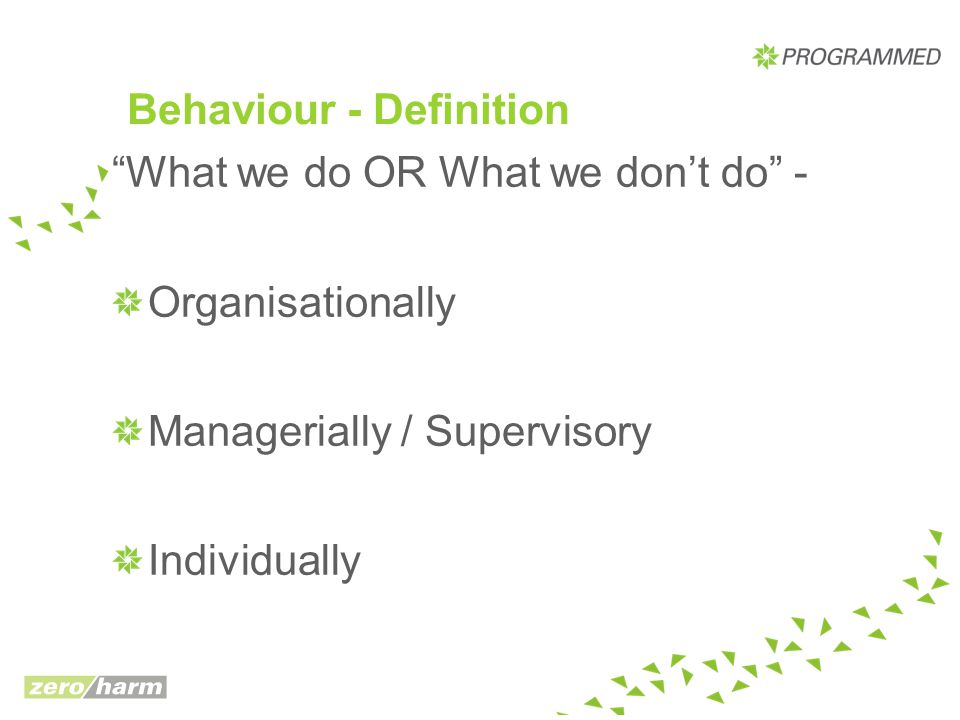 Behaviour - Definition