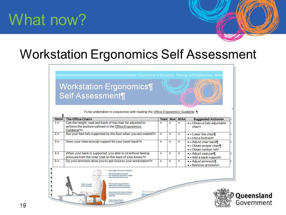 Workstation Ergonomics Self Assessment