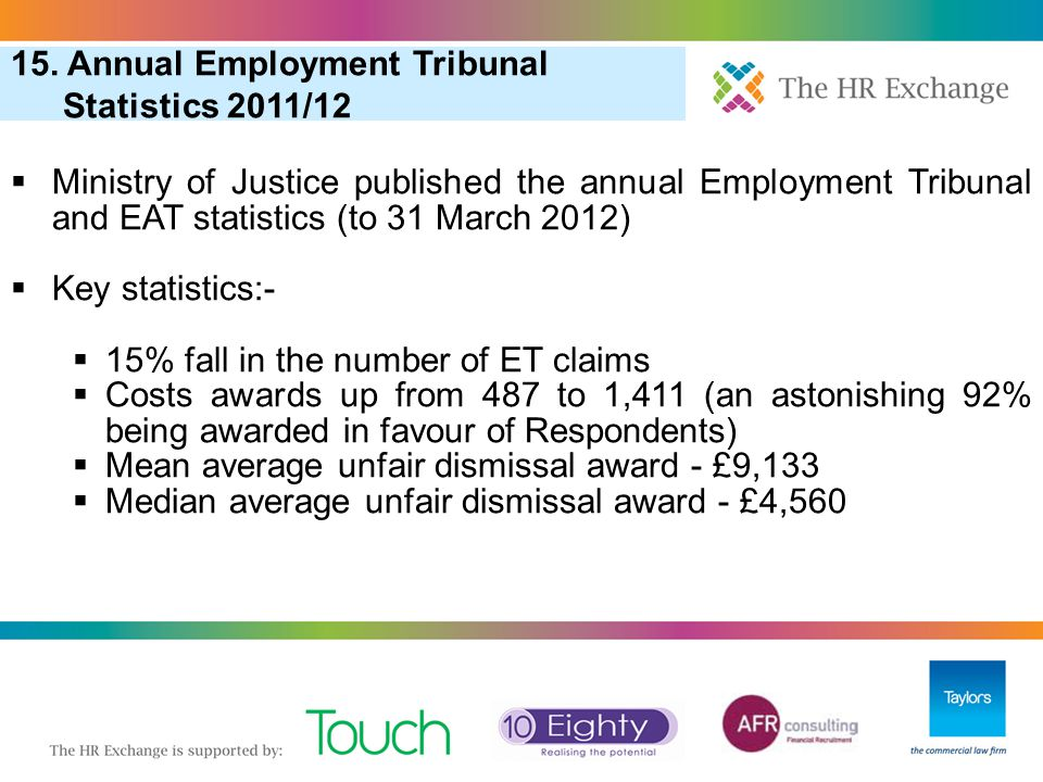 15. Annual Employment Tribunal Statistics 2011/12