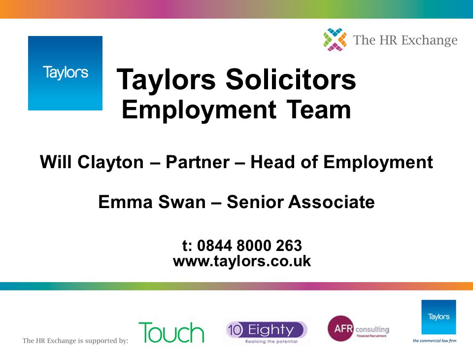 Taylors Solicitors Employment Team