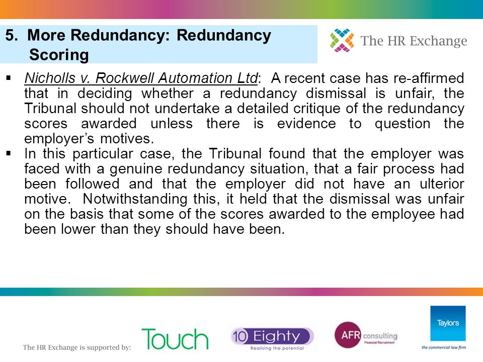 5. More Redundancy: Redundancy Scoring