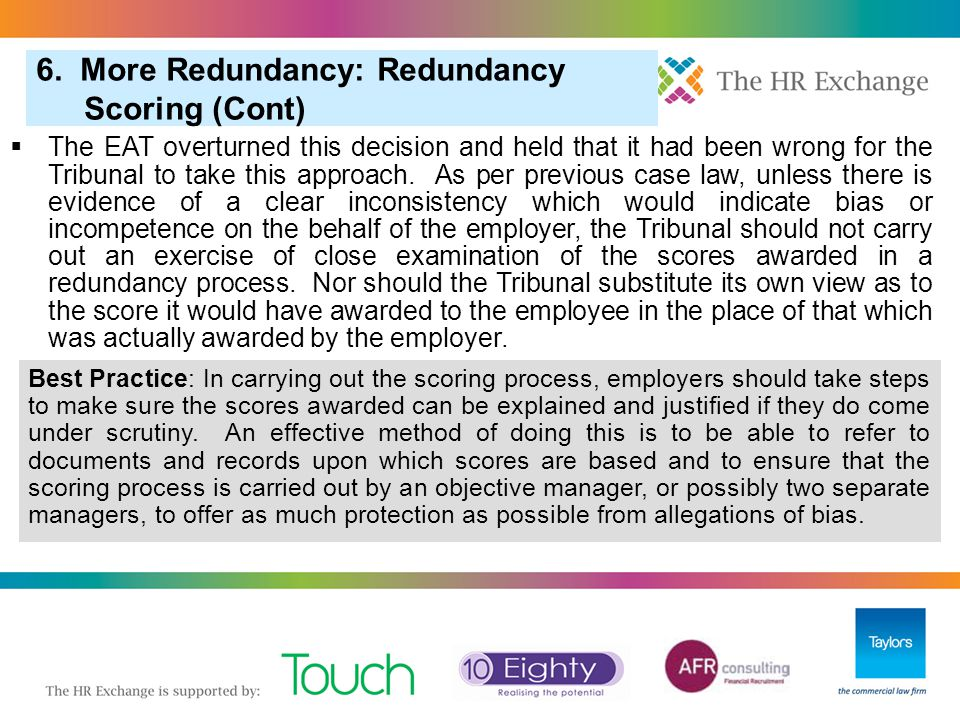 6. More Redundancy: Redundancy Scoring (Cont)