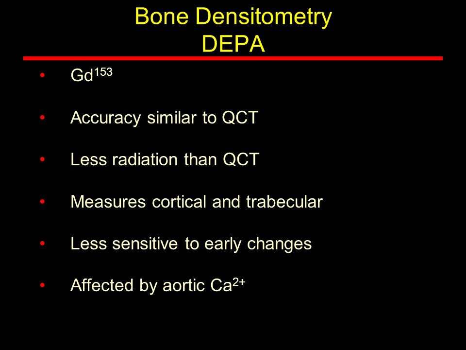 Bone Densitometry DEPA