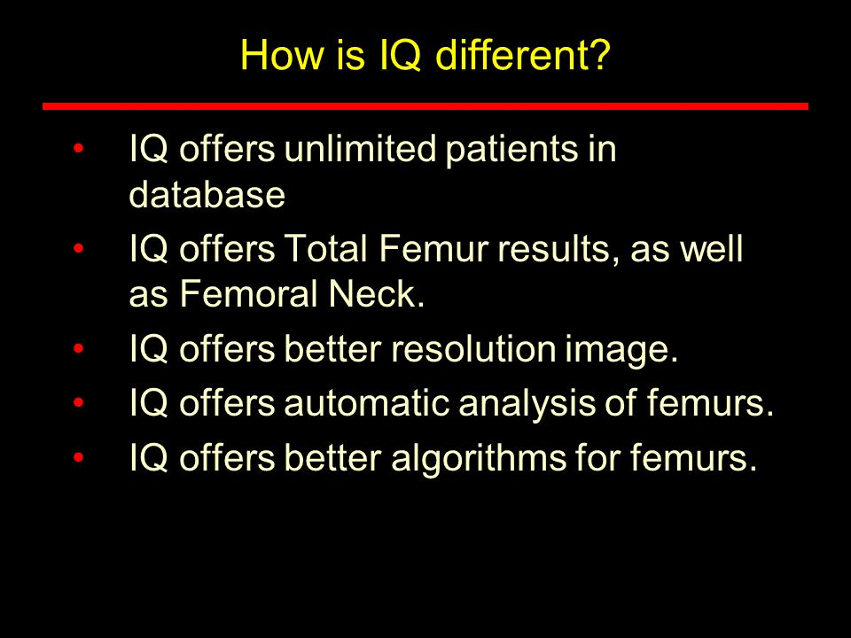 How is IQ different IQ offers unlimited patients in database