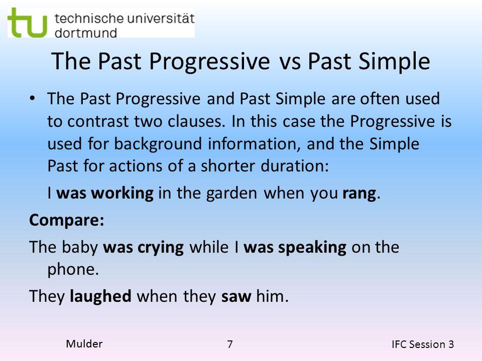 The Past Progressive vs Past Simple