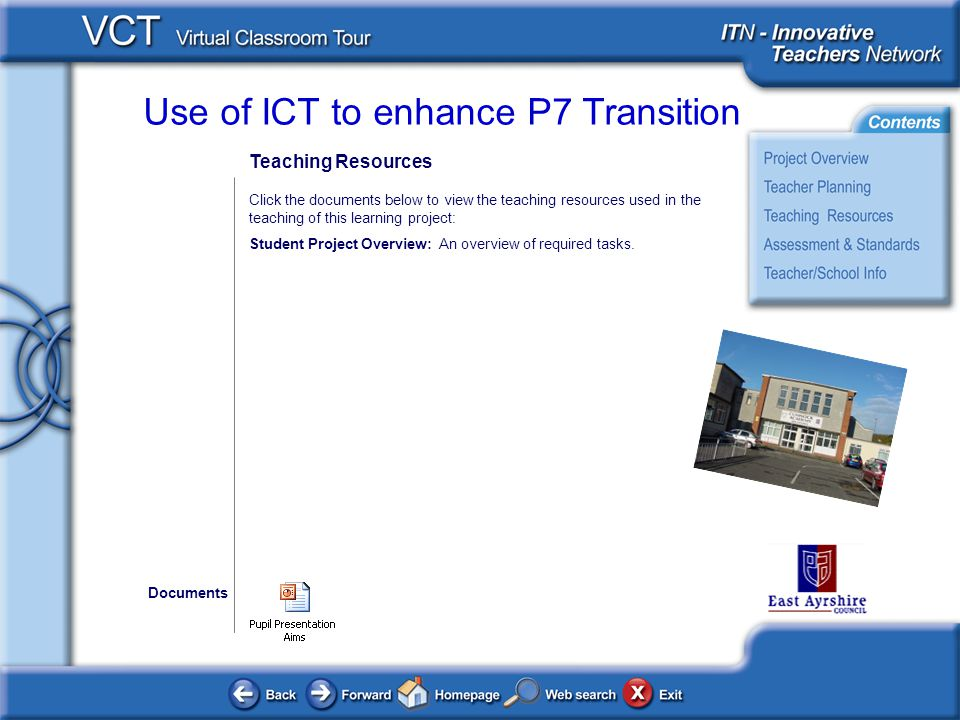 Teaching Resources Click the documents below to view the teaching resources used in the teaching of this learning project: