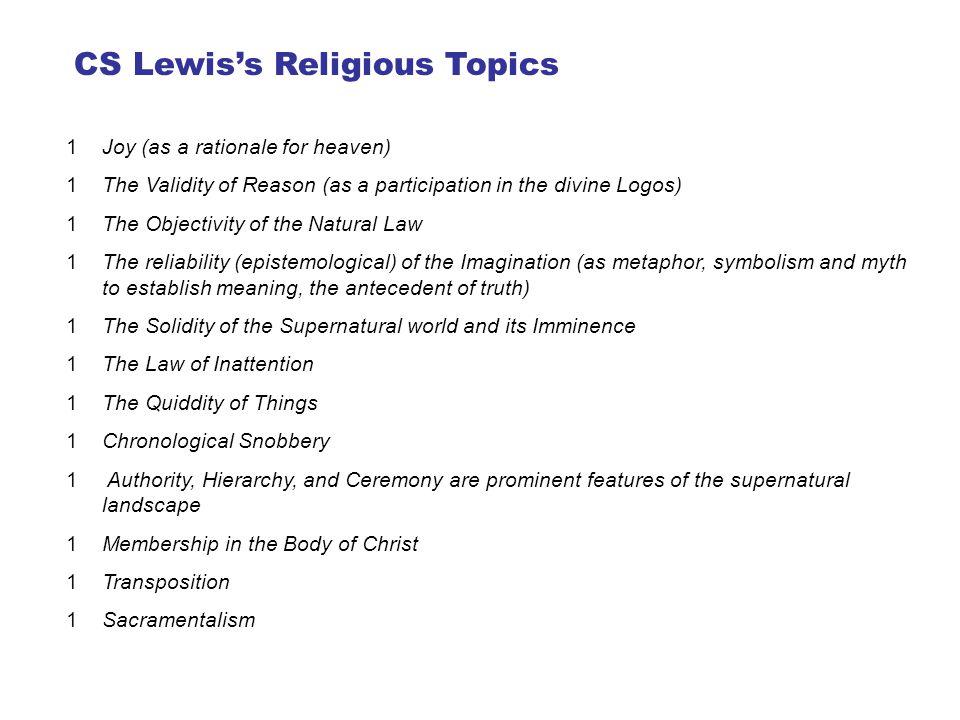CS Lewis's Religious Topics