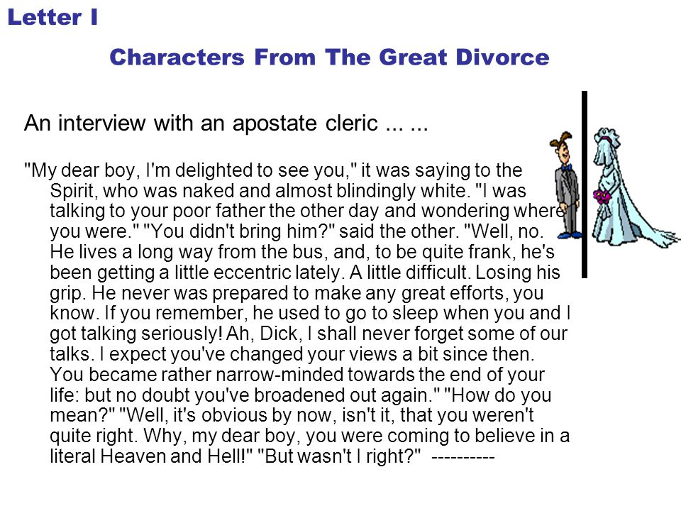 Characters From The Great Divorce