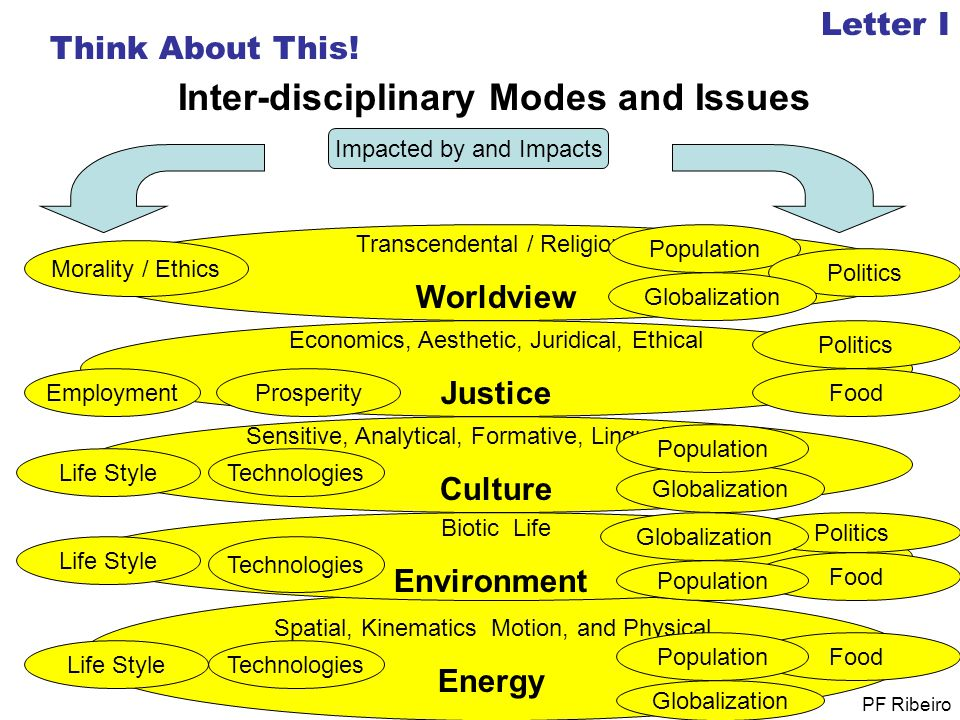 Inter-disciplinary Modes and Issues
