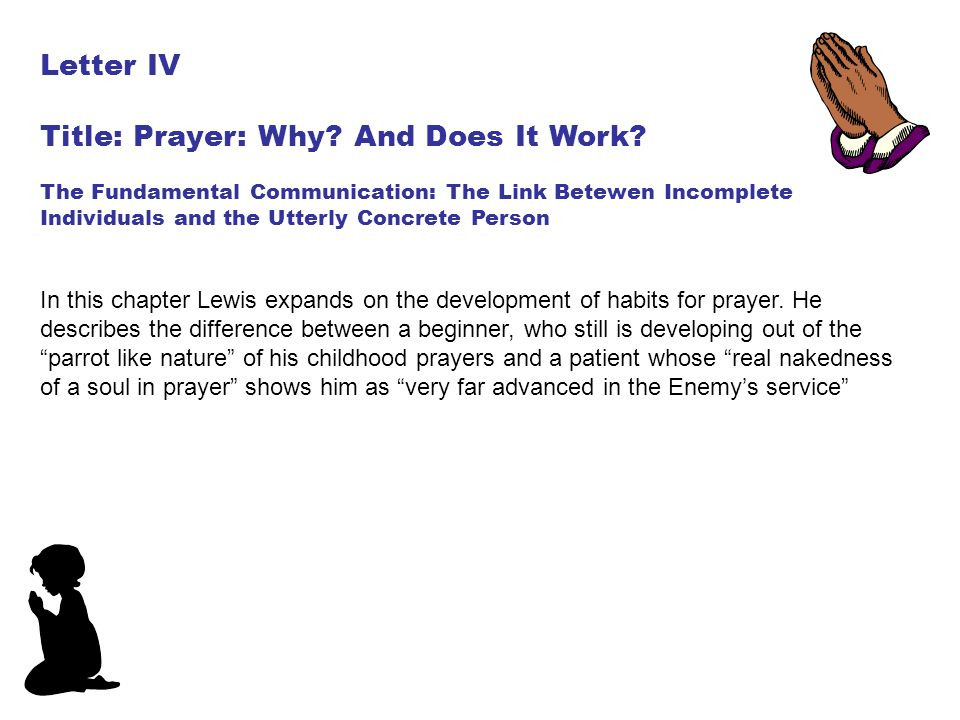 Title: Prayer: Why And Does It Work