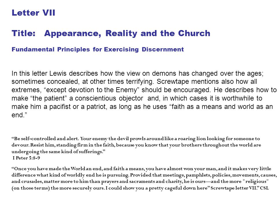 Title: Appearance, Reality and the Church