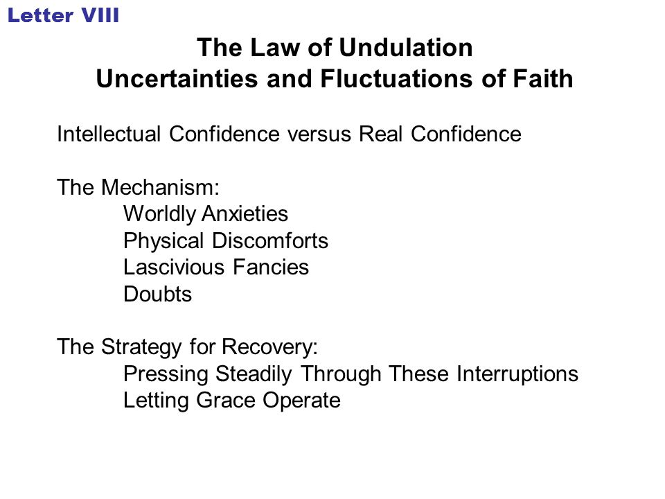 Uncertainties and Fluctuations of Faith
