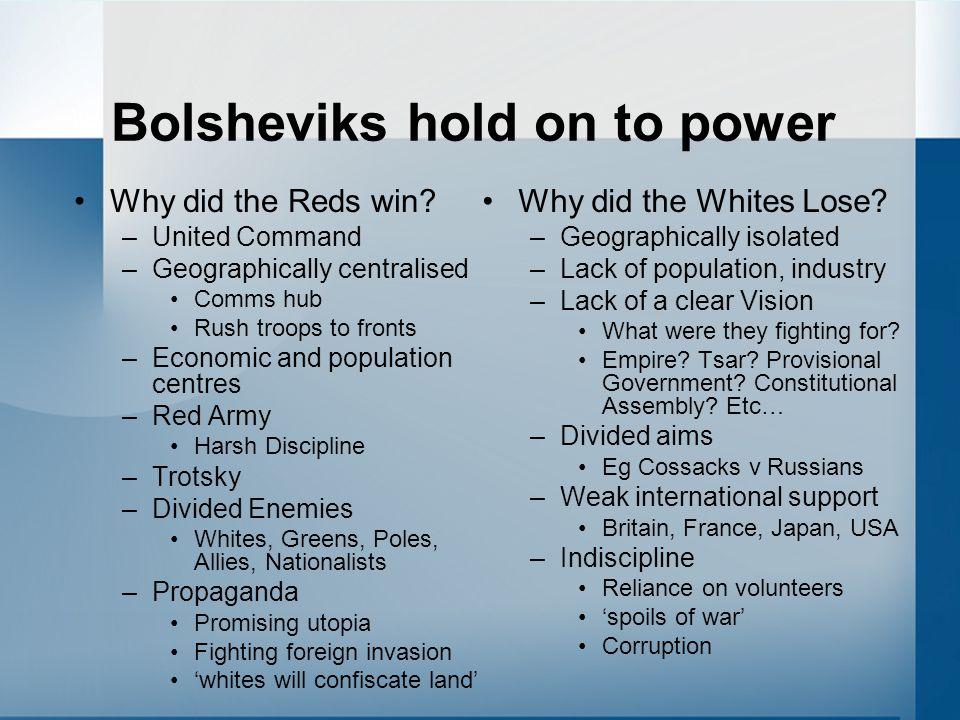 Bolsheviks hold on to power