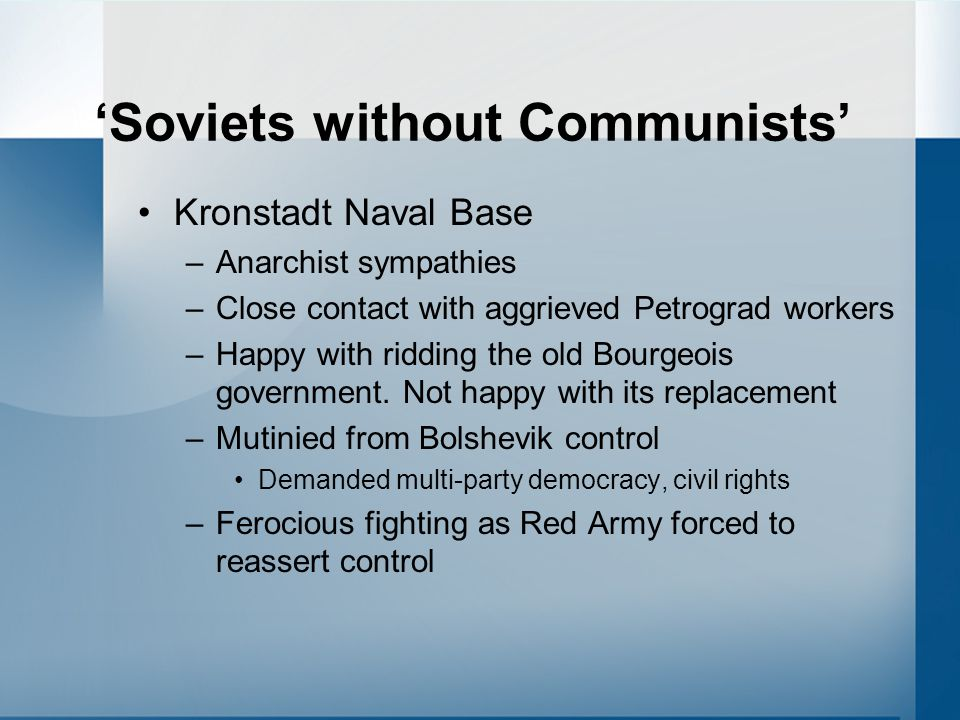 'Soviets without Communists'