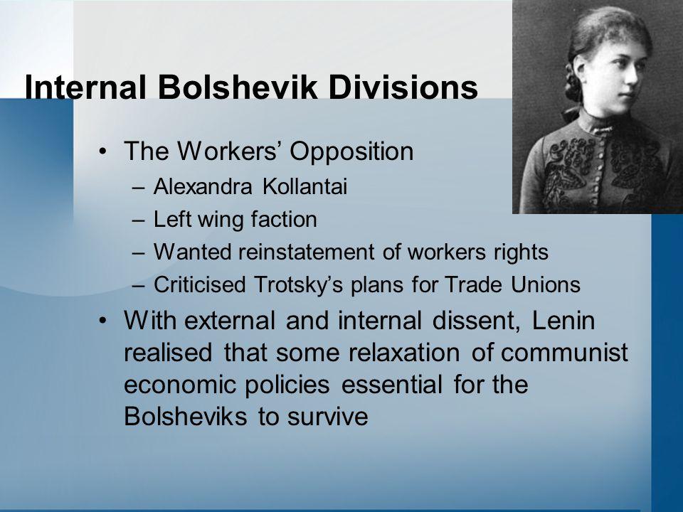 Internal Bolshevik Divisions