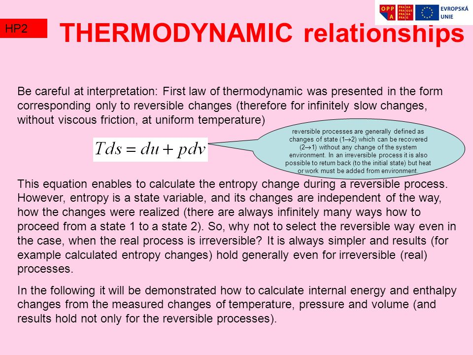 THERMODYNAMIC relationships