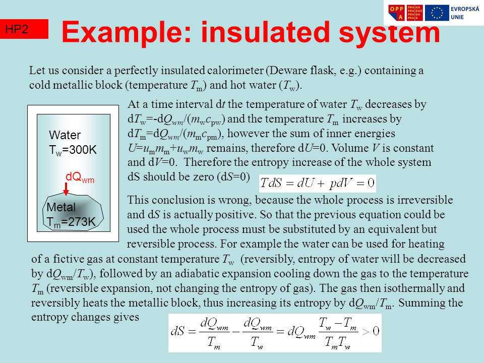Example: insulated system