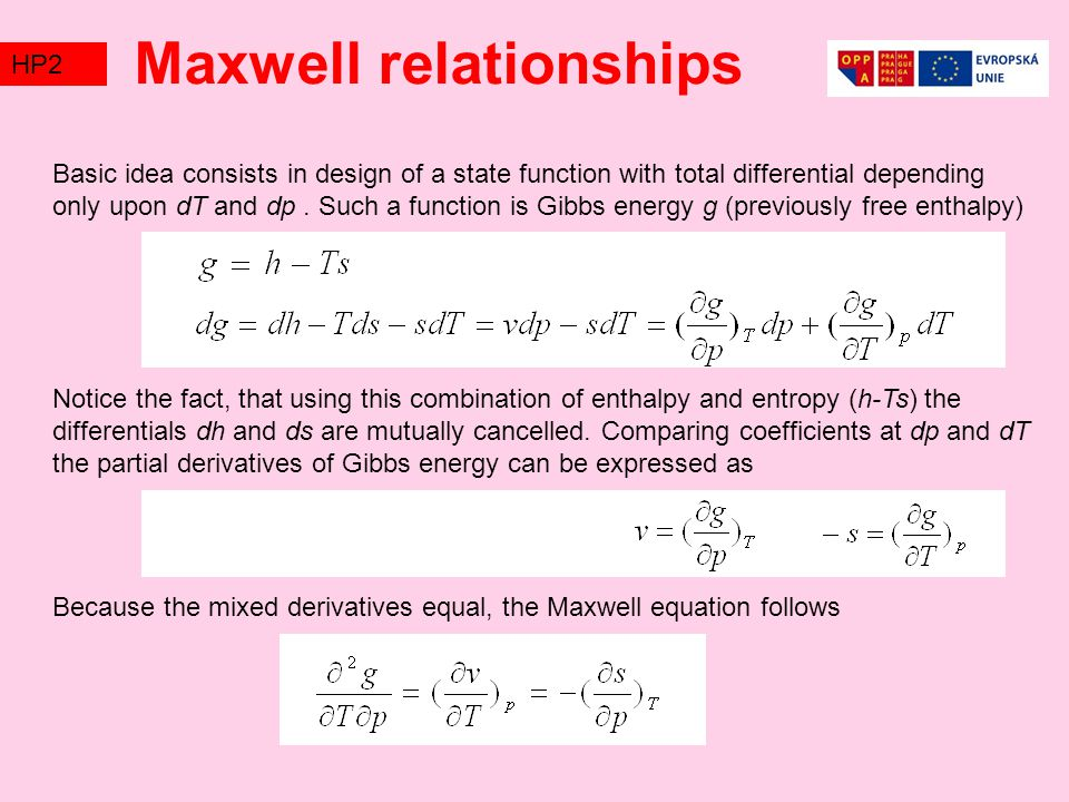 Maxwell relationships