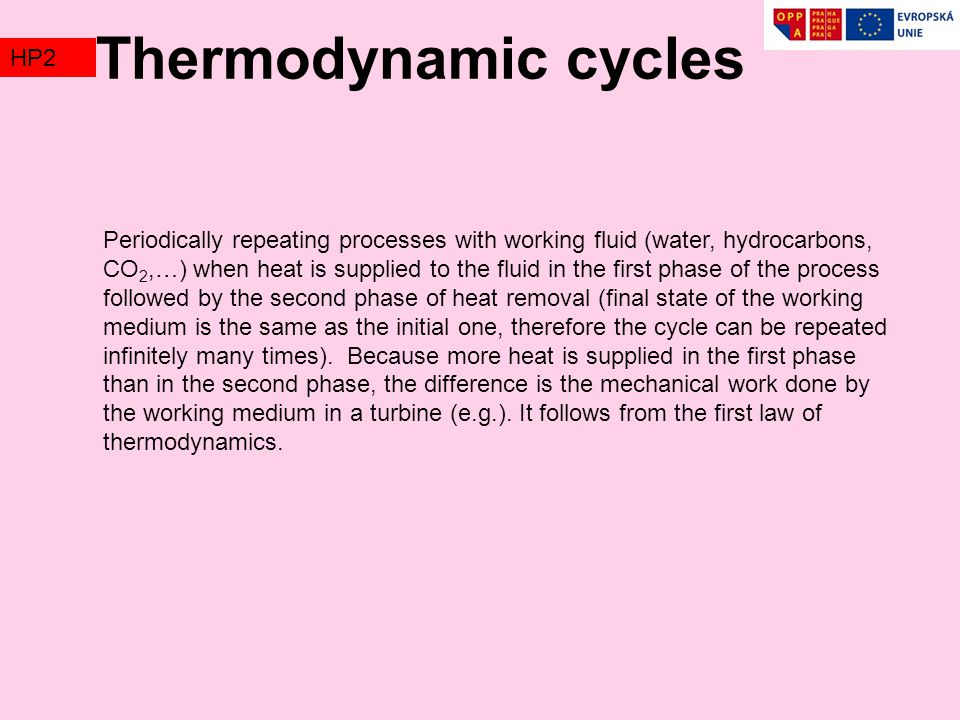Thermodynamic cycles TZ2 HP2