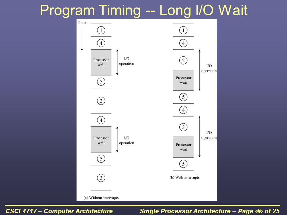 Program Timing -- Long I/O Wait