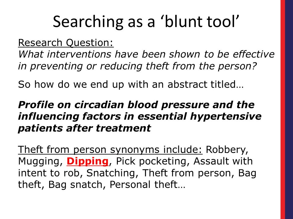 Searching as a 'blunt tool'