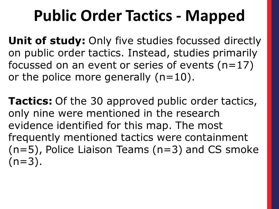 Public Order Tactics - Mapped