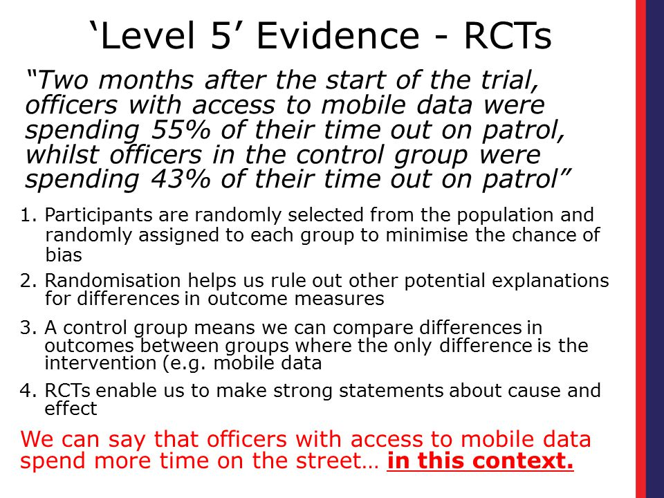 'Level 5' Evidence - RCTs