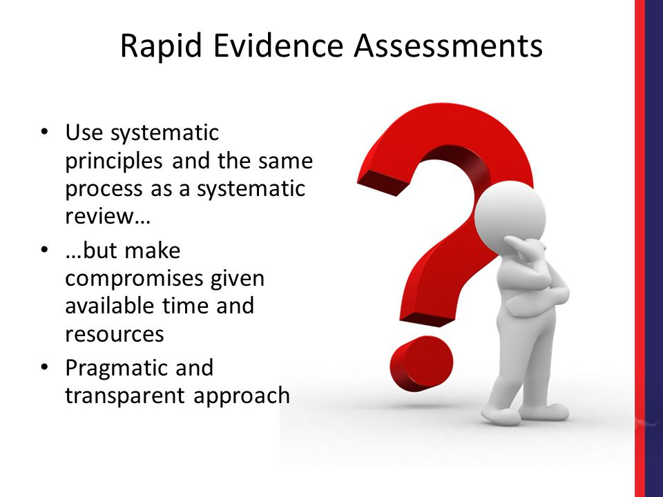 Rapid Evidence Assessments