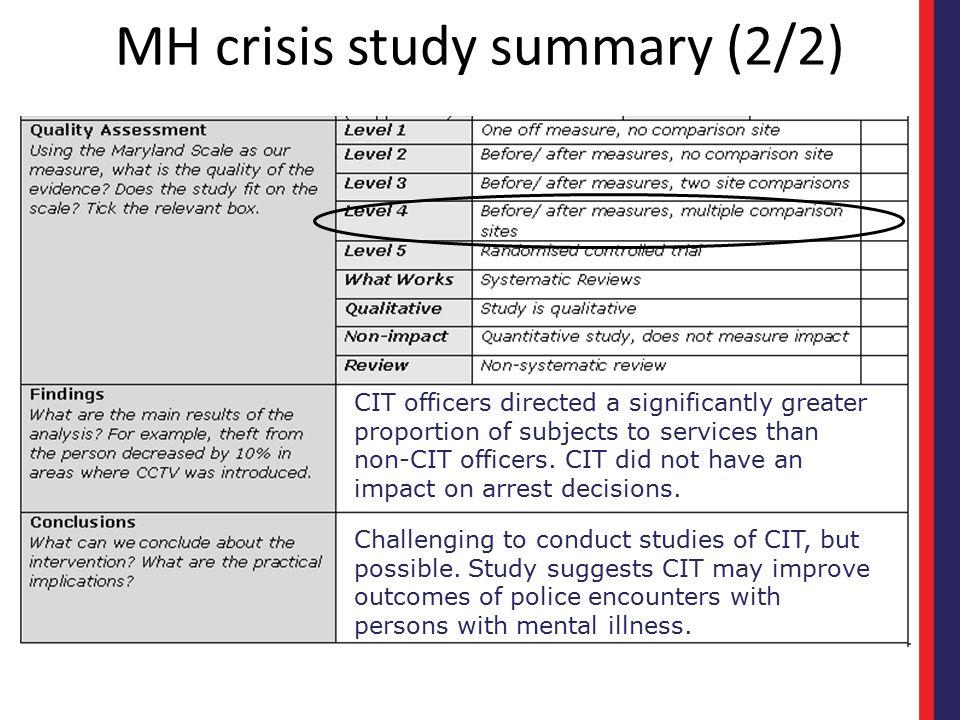 MH crisis study summary (2/2)