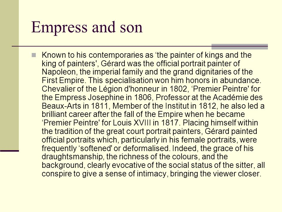 Empress and son