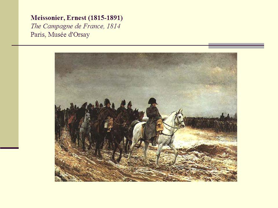 Meissonier, Ernest (1815-1891) The Campagne de France, 1814 Paris, Musée d Orsay