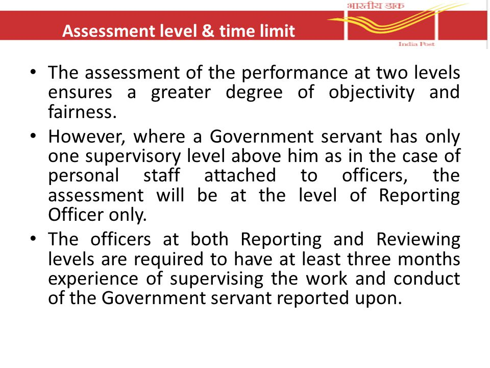 Assessment level & time limit
