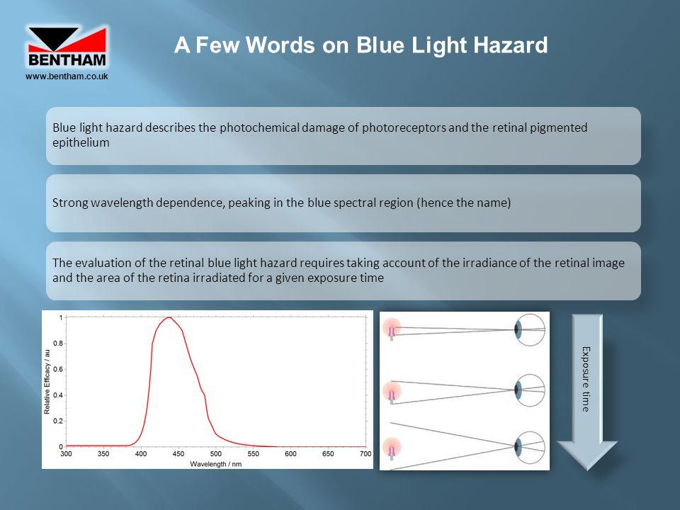 A Few Words on Blue Light Hazard