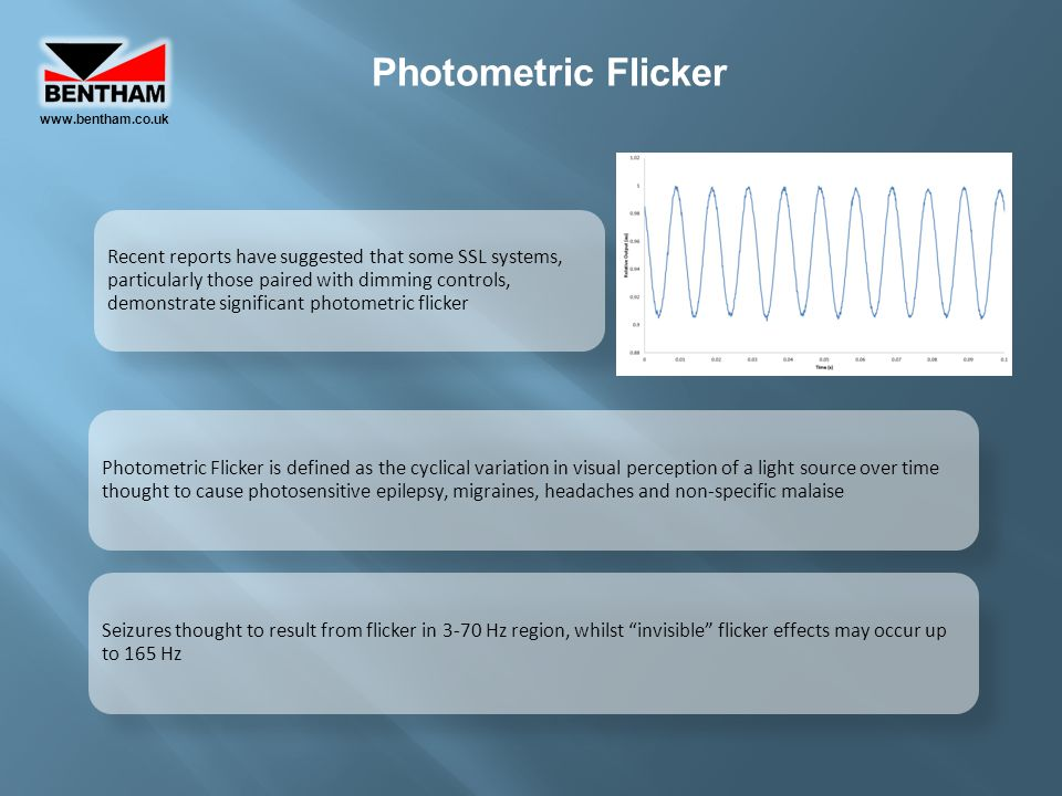 www.bentham.co.uk Photometric Flicker.