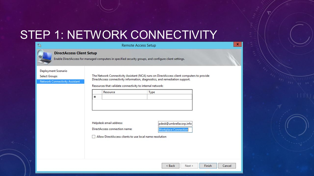 Step 1: Network Connectivity