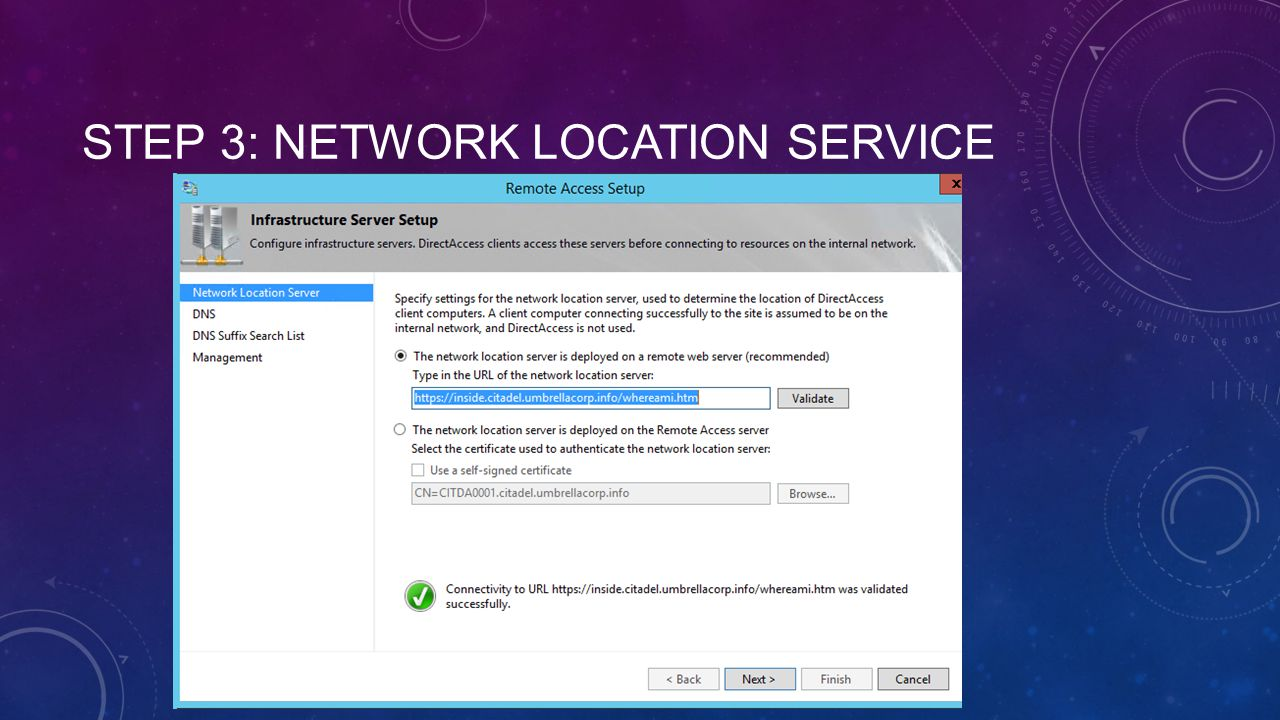 Step 3: Network Location Service