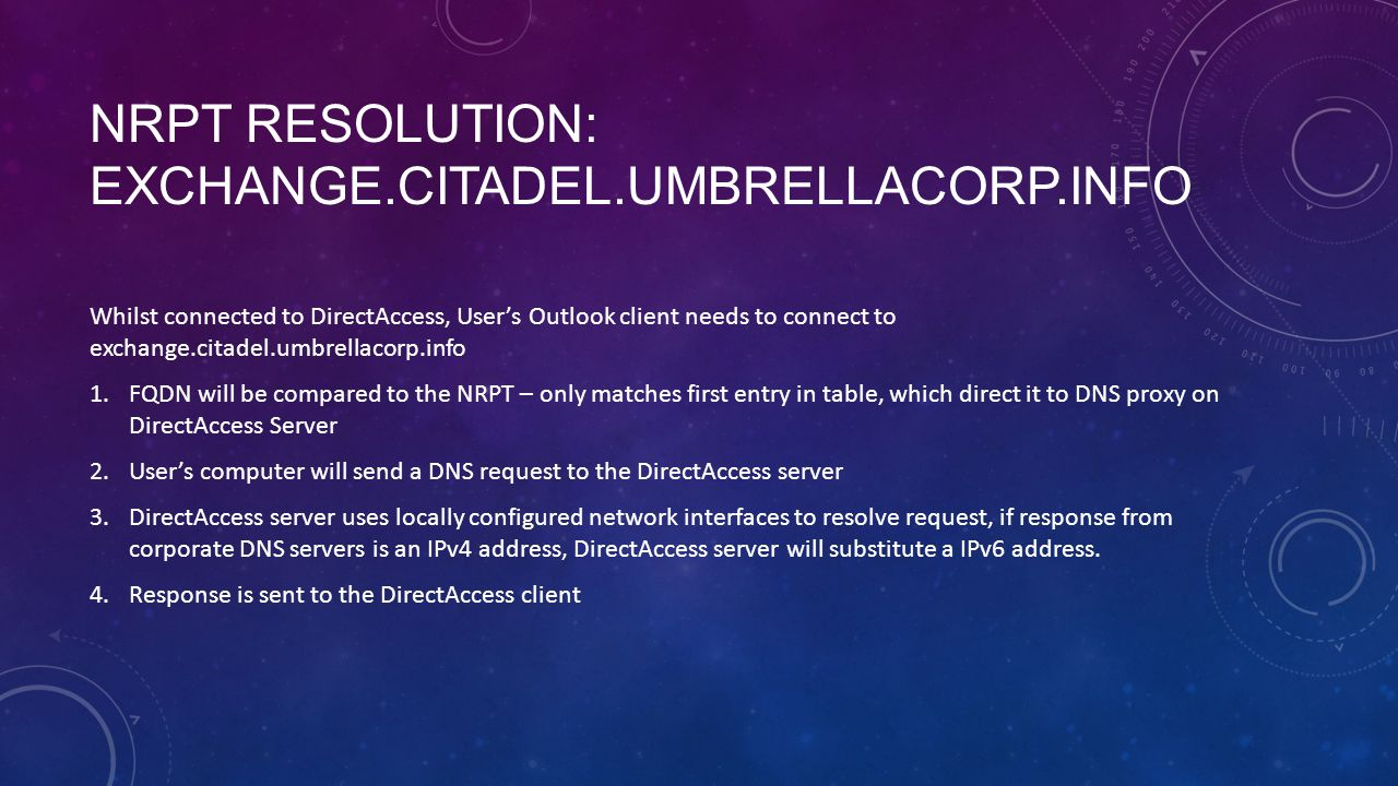 NRPT Resolution: exchange.citadel.umbrellacorp.info