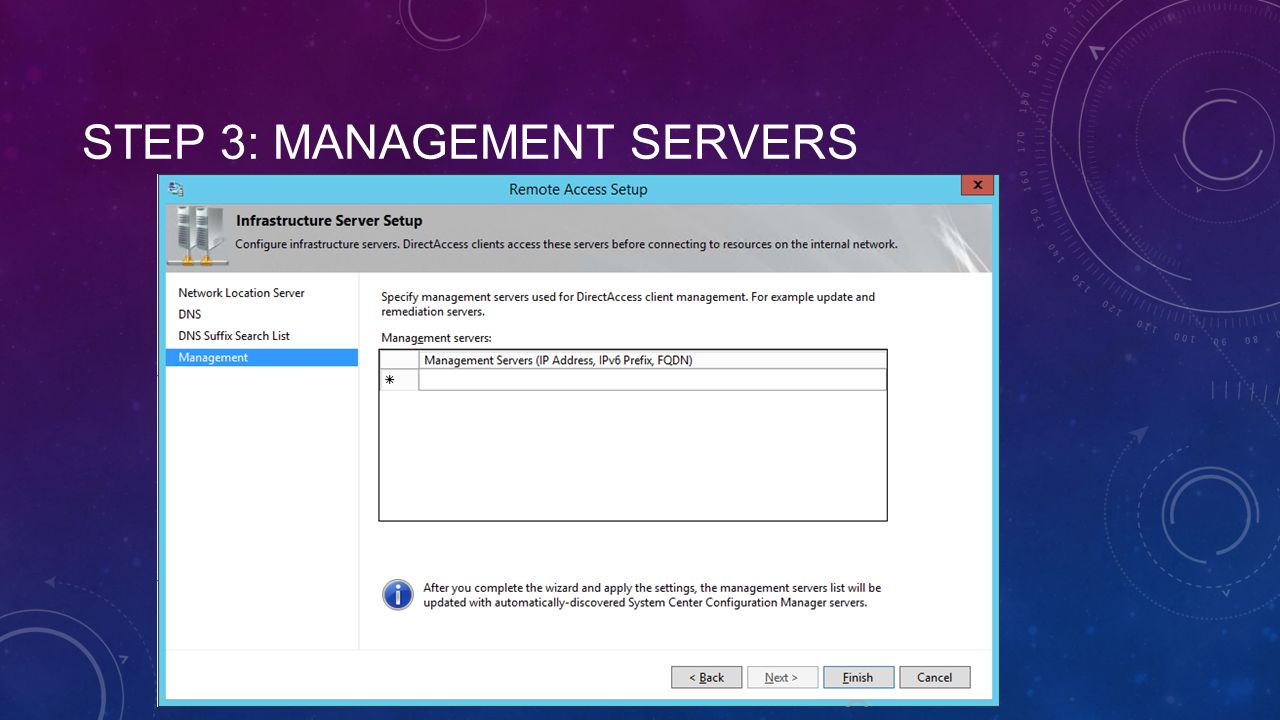 Step 3: Management Servers