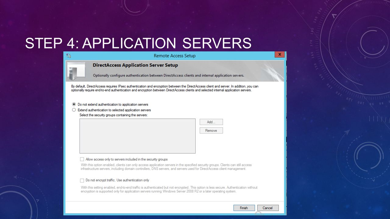 Step 4: Application Servers