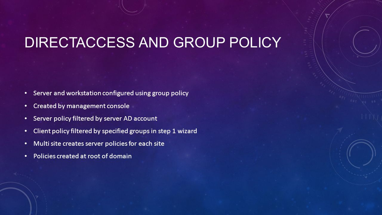 DirectAccess and Group Policy