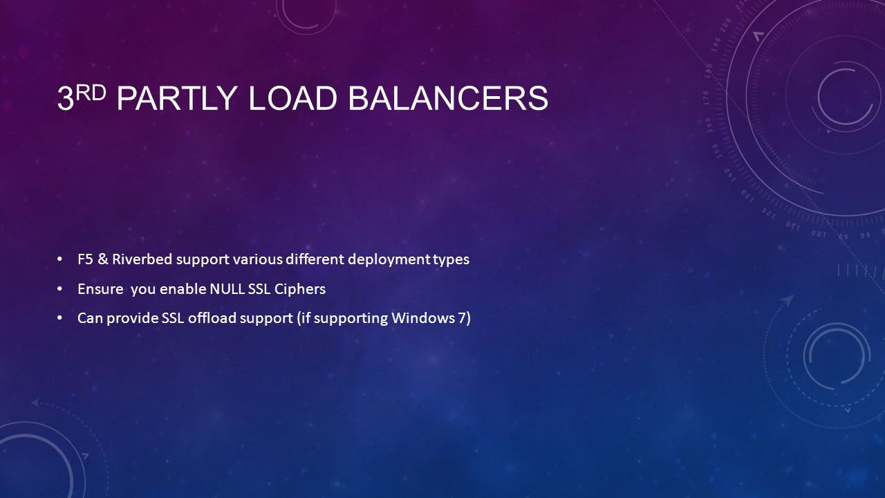 3rd Partly Load Balancers
