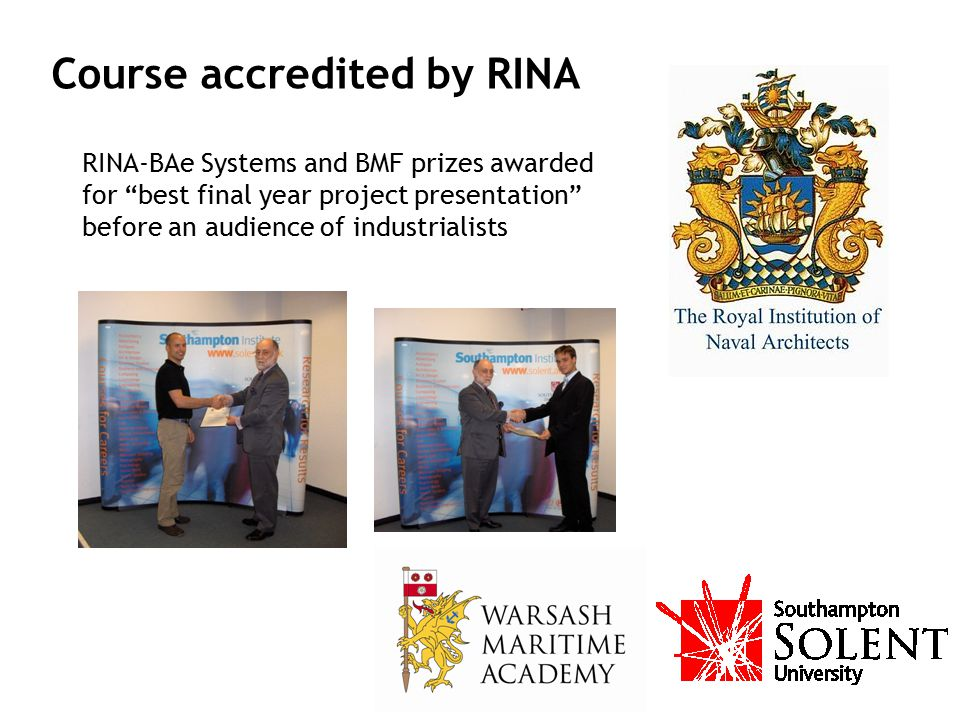 Course accredited by RINA