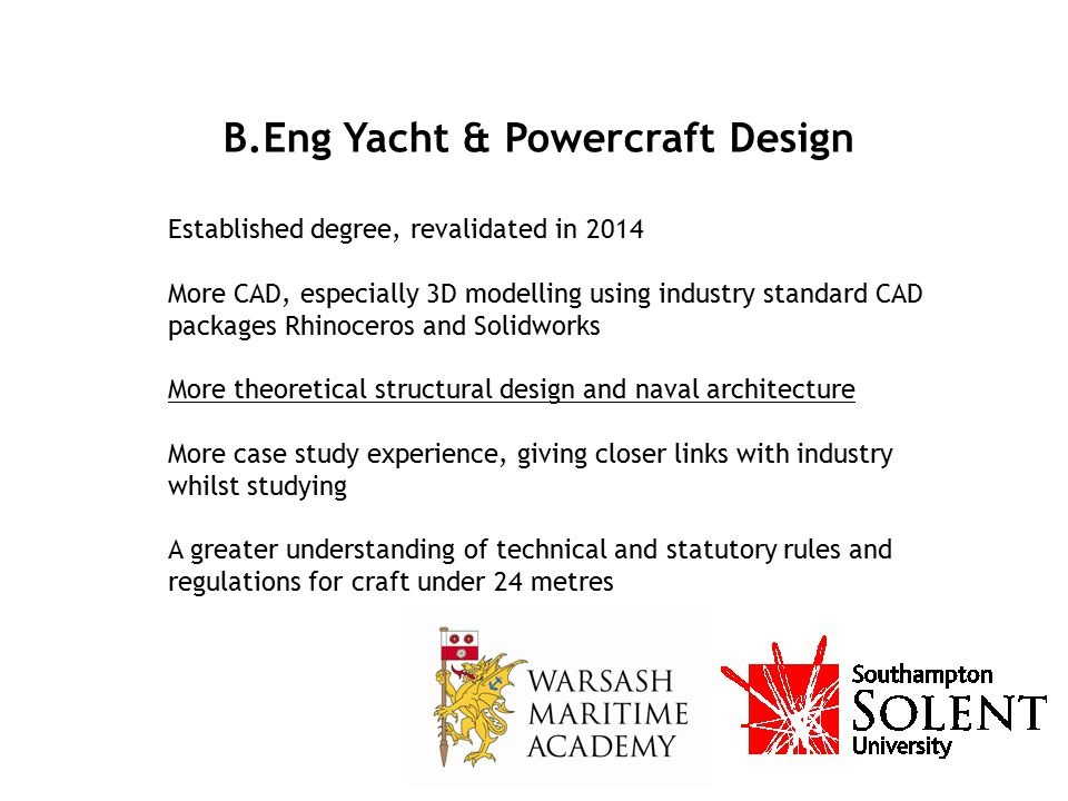 B.Eng Yacht & Powercraft Design