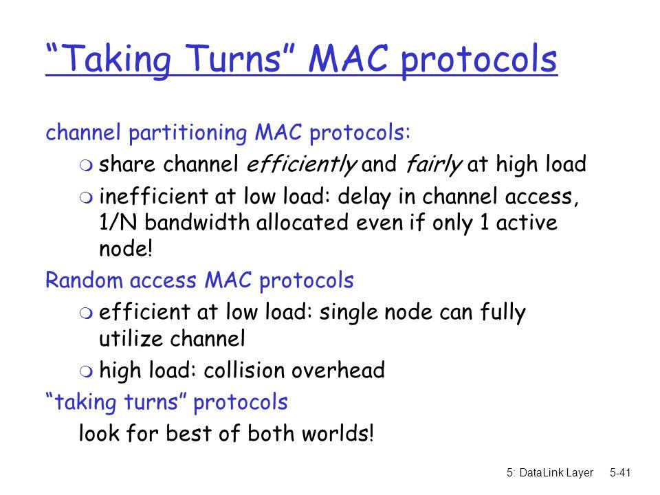 Taking Turns MAC protocols