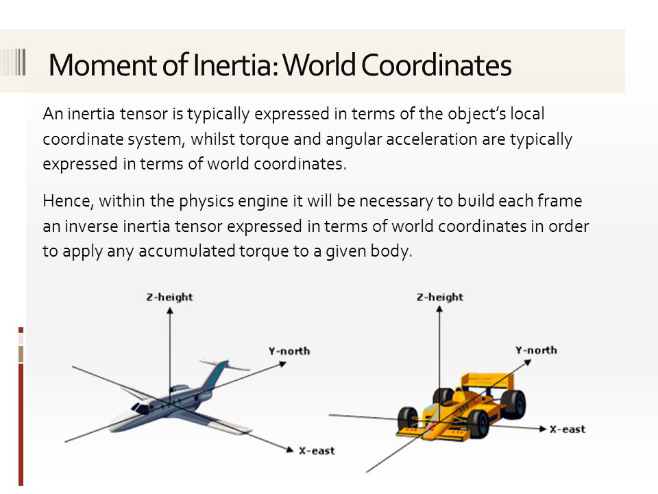 Moment of Inertia: World Coordinates