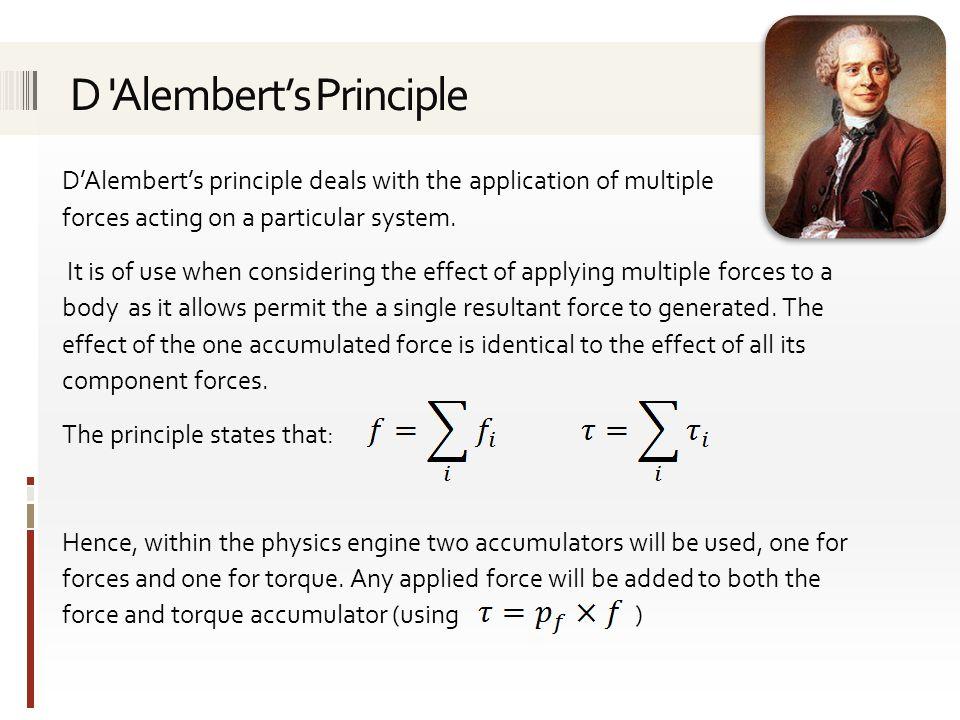 D Alembert's Principle
