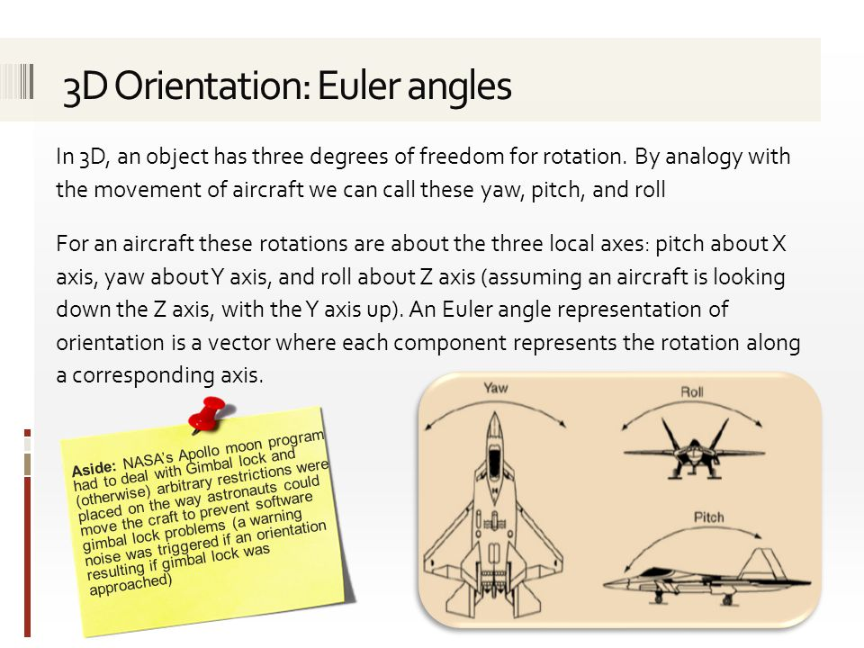 3D Orientation: Euler angles