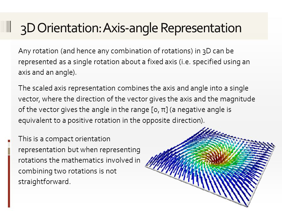 3D Orientation: Axis-angle Representation